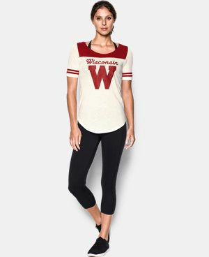 Women's Wisconsin UA Iconic Collection Jersey T-Shirt  1 Color $39.99