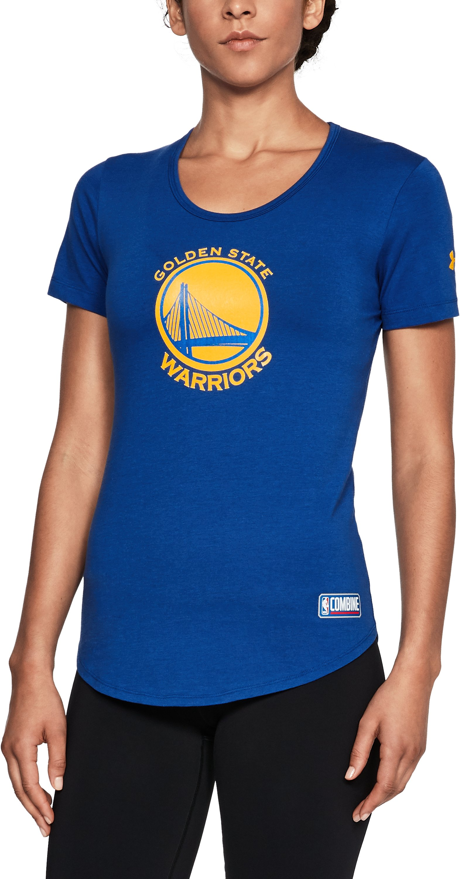 Women's NBA Combine Authentic Primary Logo T-Shirt, NBA_GOLDEN STATE WARRIORS_ROYAL