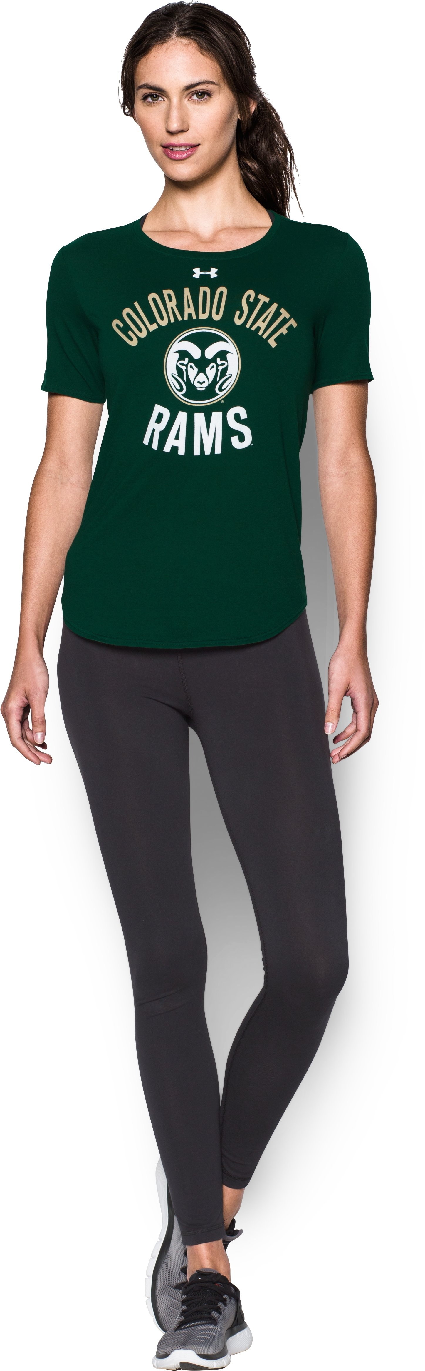 Women's Colorado State Charged Cotton® Short Sleeve T-Shirt, Forest Green, zoomed image