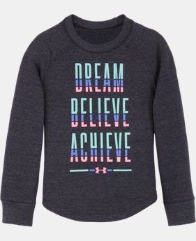 New Arrival Girls' Pre-School UA Dream Believe Achieve Waffle  1 Color $29.99