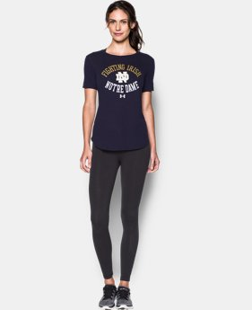 New Arrival Women's Notre Dame Charged Cotton® Short Sleeve T-Shirt  1 Color $29.99
