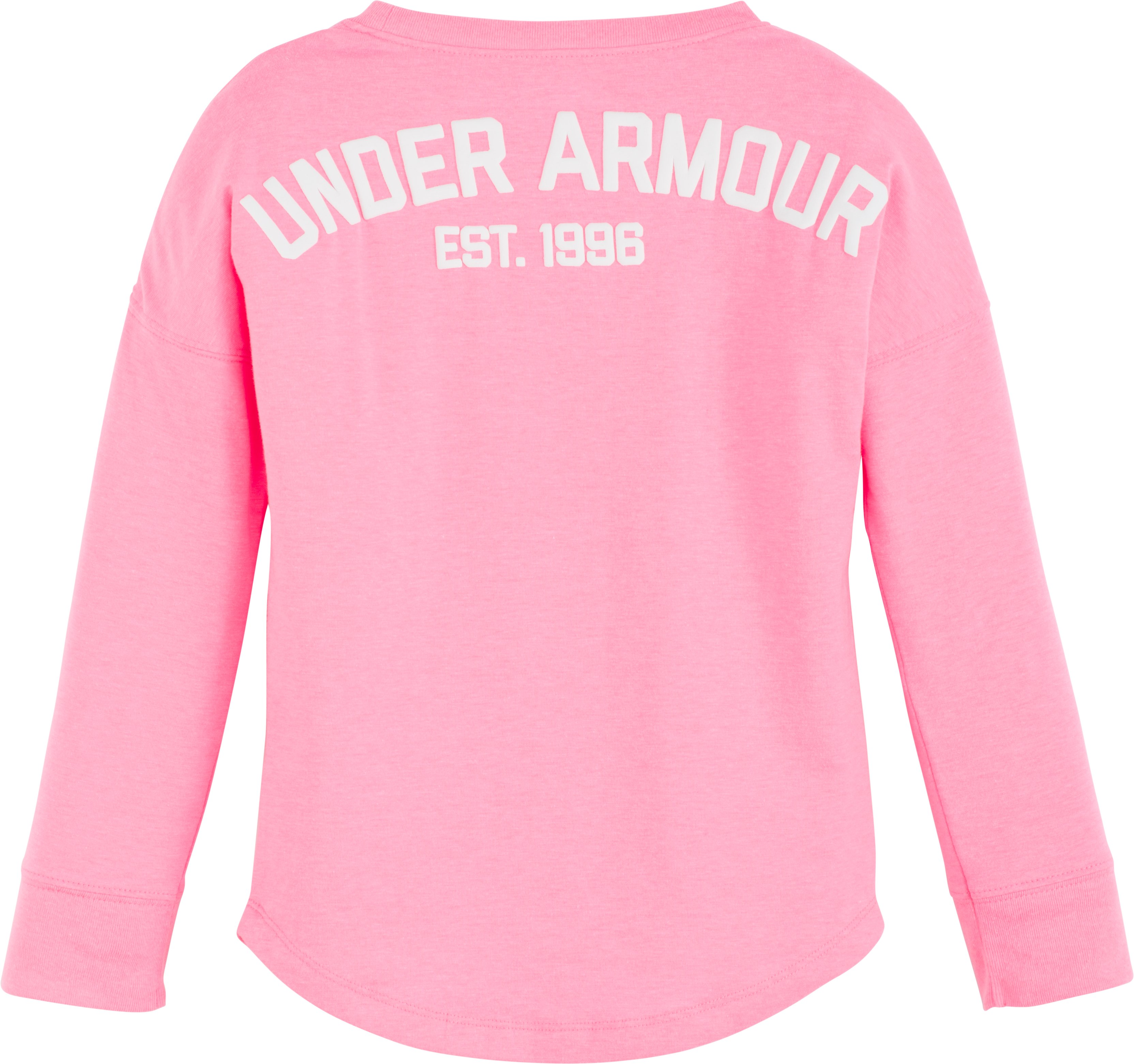 Girls' Pre-School UA Varsity Long Sleeve, PINK PUNK,