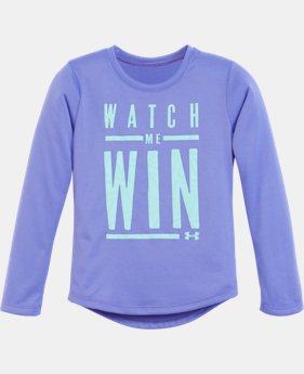 Girls' Toddler UA Watch Me Win Long Sleeve  1 Color $18.99