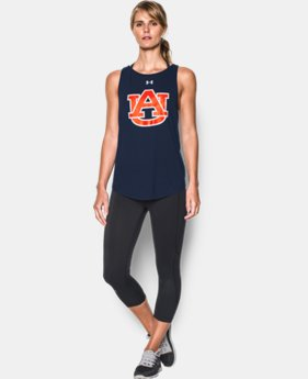 New Arrival Women's Auburn Charged Cotton® Tie Tank   1 Color $34.99