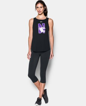 New Arrival Women's Northwestern Charged Cotton® Tie Tank   1 Color $34.99