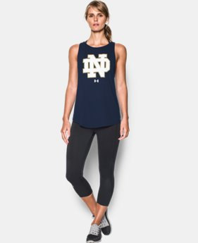 Women's Notre Dame Charged Cotton® Tie Tank   1 Color $34.99