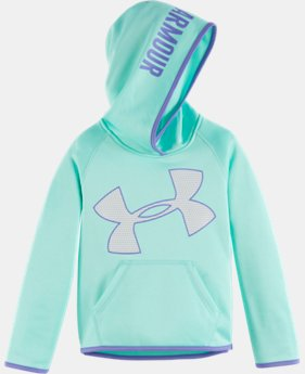 New Arrival Girls' Pre-School UA Jumbo Logo Hoodie LIMITED TIME OFFER + FREE U.S. SHIPPING  $39.99