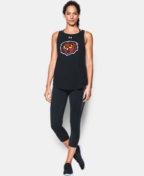 New Arrival Women's Temple Charged Cotton® Tie Tank   1 Color $34.99