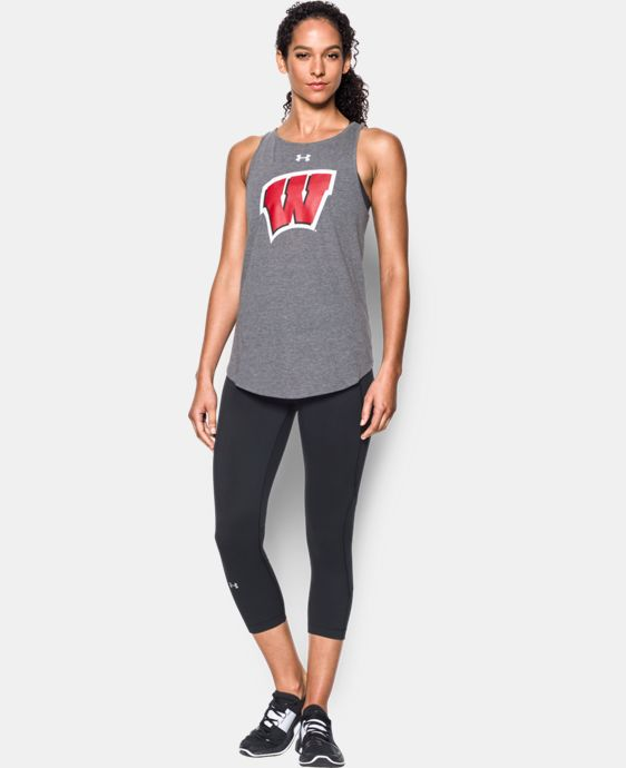Women's Wisconsin Charged Cotton® Tie Tank  LIMITED TIME: FREE U.S. SHIPPING 1 Color $34.99