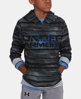 PRO PICK Boys' UA Threadborne™ Big Logo Hoodie LIMITED TIME OFFER 6 Colors $34.99