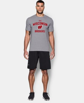 New Arrival Men's Wisconsin Charged Cotton® T-Shirt  1 Color $29.99