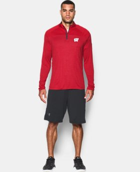 Men's Wisconsin UA Tech™ Printed ¼ Zip   $59.99
