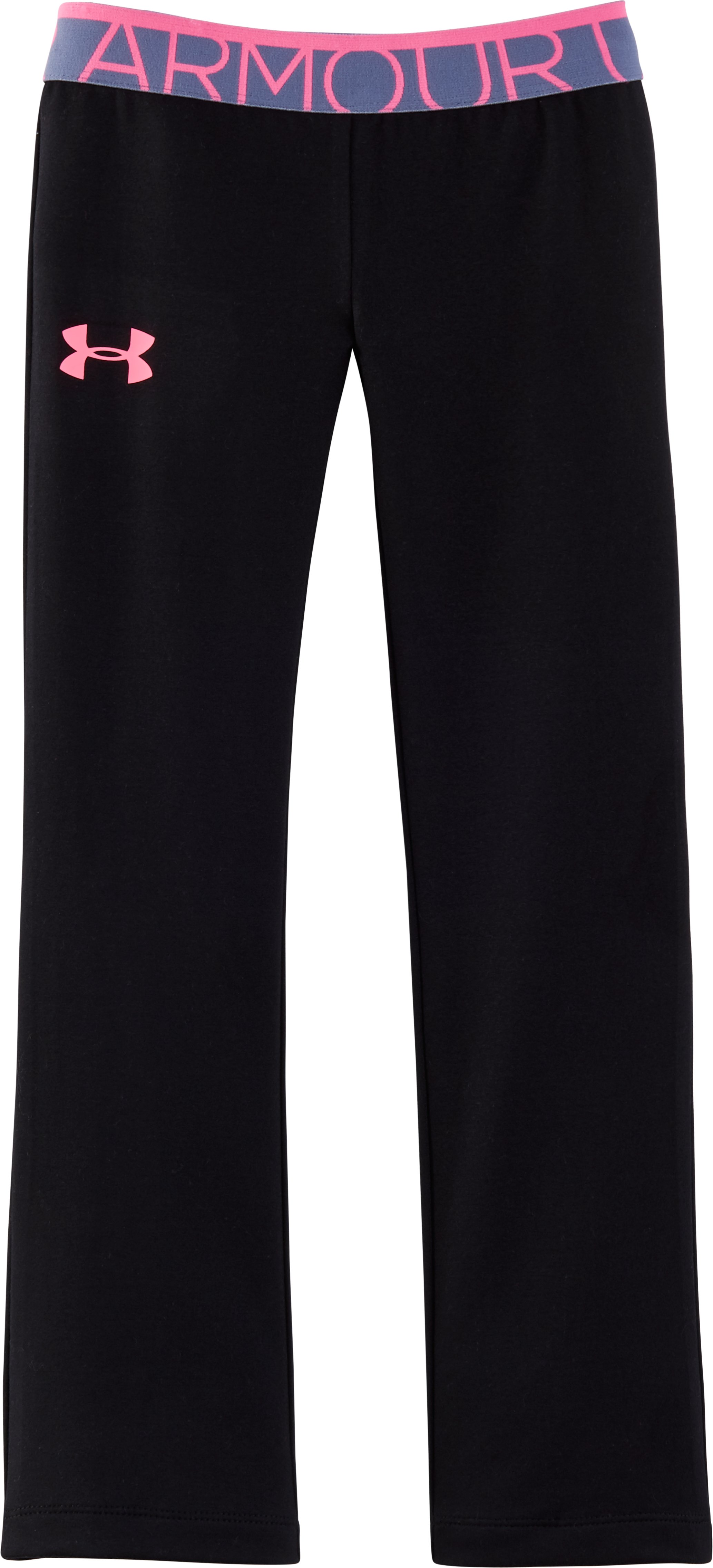 Girls' Toddler UA Pronto Pants, Black , zoomed image