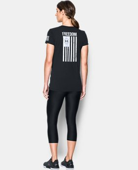 Women's UA Freedom Flag 2.0 T-Shirt FREE U.S. SHIPPING 6  Colors Available $24.99