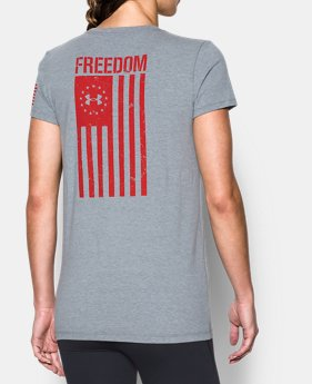 1e7ee39b Women's UA Freedom Flag 2.0 T-Shirt 1 Color Available $24.99