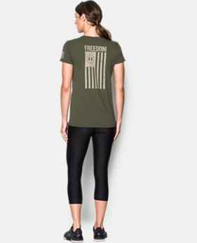 Women's UA Freedom Flag 2.0 T-Shirt  1  Color $24.99