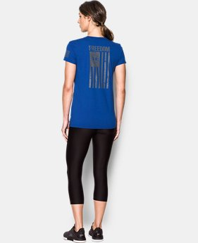 Women's UA Freedom Flag 2.0 T-Shirt FREE U.S. SHIPPING 1  Color Available $24.99