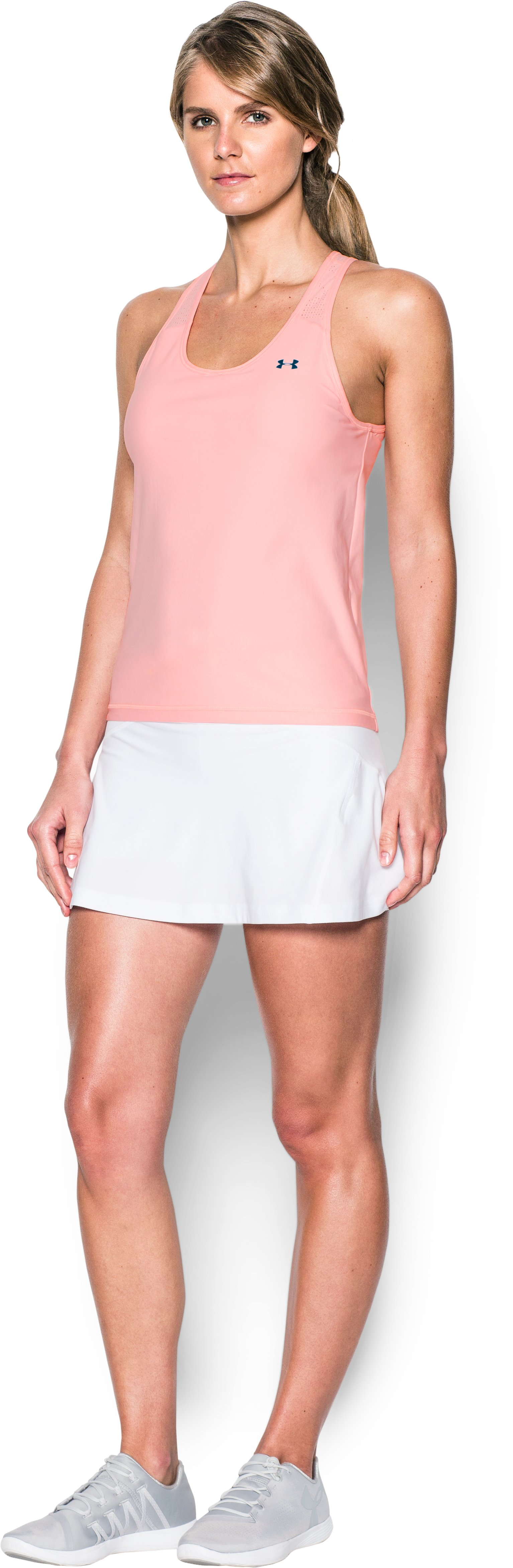 Women's UA Center Court Tank, BALLET PINK, Front