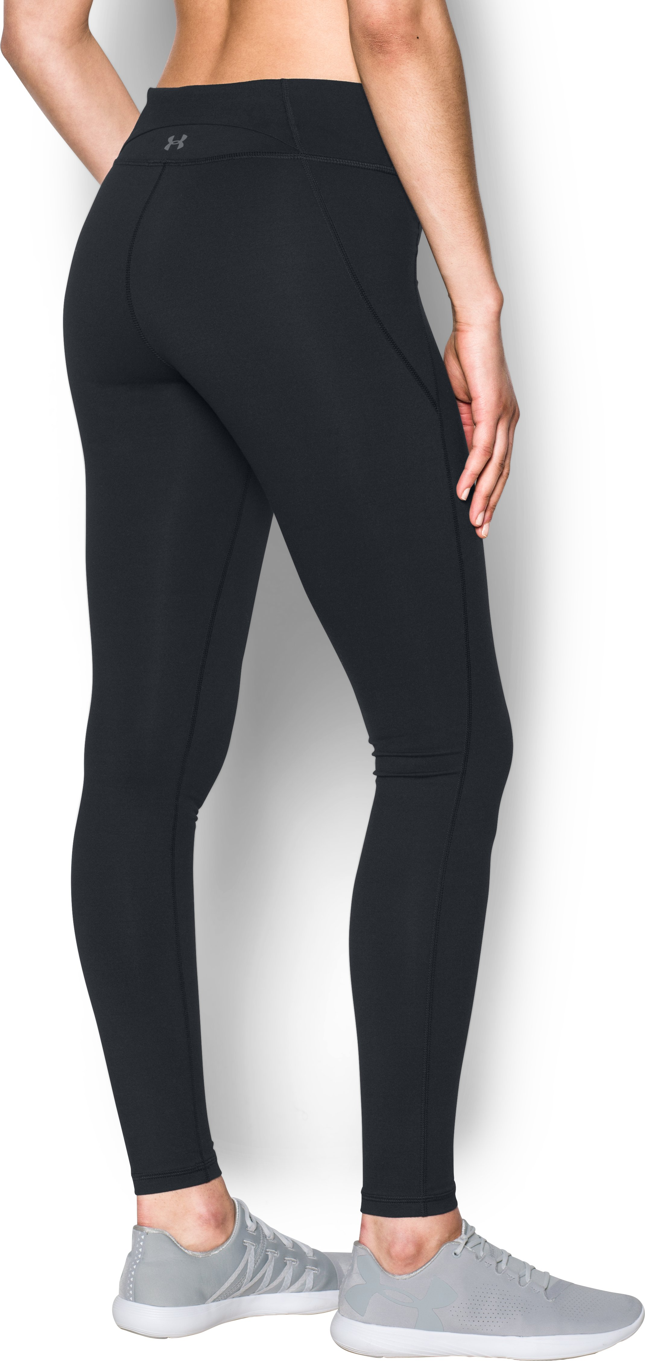 Women's UA Mirror StudioLux Seamed Leggings, Black ,