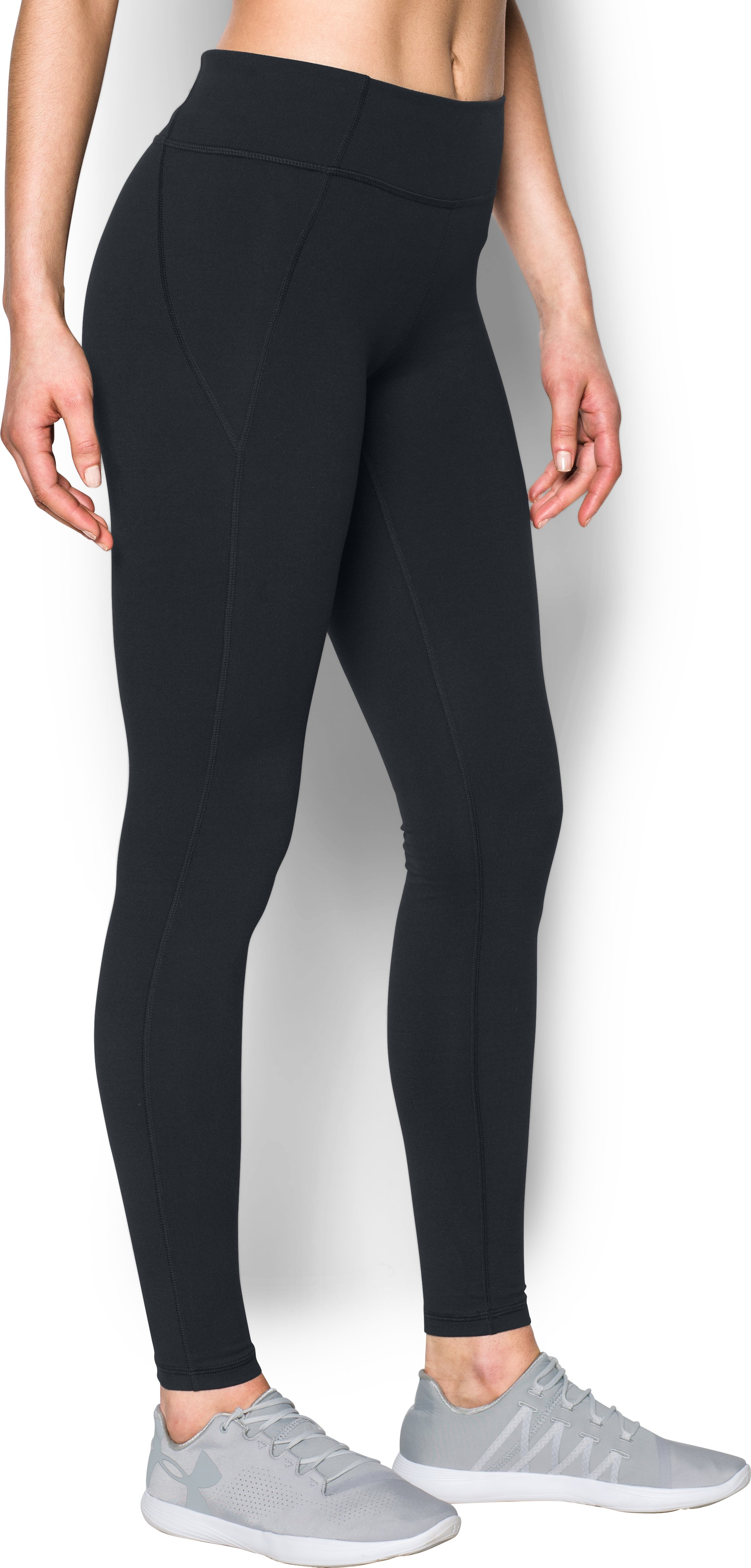 Women's UA Mirror StudioLux Seamed Leggings, Black