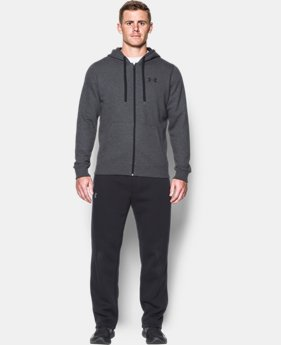 Best Seller Men's UA Rival Fleece Fitted Full Zip Hoodie  1 Color $54.99