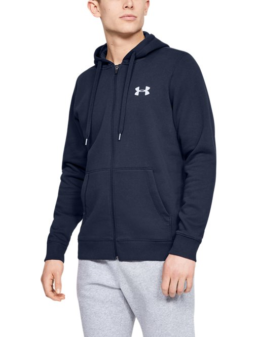 Full Men's Fleece Zip Hoodie Ua Rival Fitted QrdCtsh