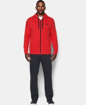 Men's UA Rival Fleece Fitted Full Zip Hoodie LIMITED TIME OFFER 1 Color $38.49