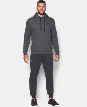 Best Seller Men's UA Rival Fleece Fitted Hoodie  4 Colors $44.99