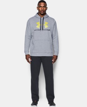 Best Seller  Men's UA Rival Fleece Fitted Graphic Hoodie  6 Colors $49.99