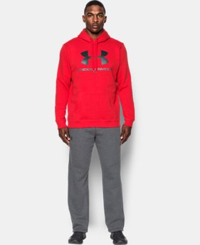 Best Seller  Men's UA Rival Fleece Fitted Graphic Hoodie  1 Color $49.99