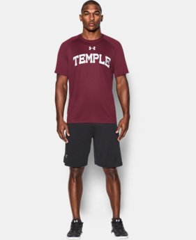 Men's Temple UA Tech™ Team T-Shirt LIMITED TIME: FREE SHIPPING  $29.99
