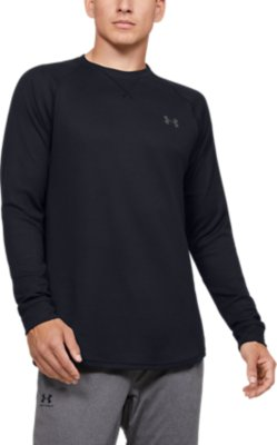 UNDER ARMOUR WAFFLE CREW THERMAL SHIRT GRAY  LONG SLEEVE 1302355-026