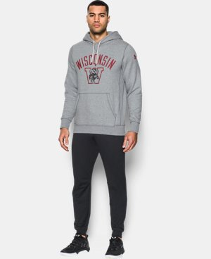 New Arrival Mens' Wisconsin Iconic Hoodie  1 Color $89.99