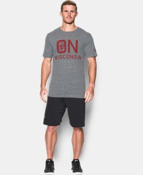 New Arrival Men's Wisconsin UA Iconic T-Shirt  1 Color $39.99