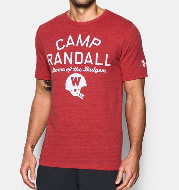 Wisconsin Ua Iconic Camp Randall T Shirt Under Armour Us
