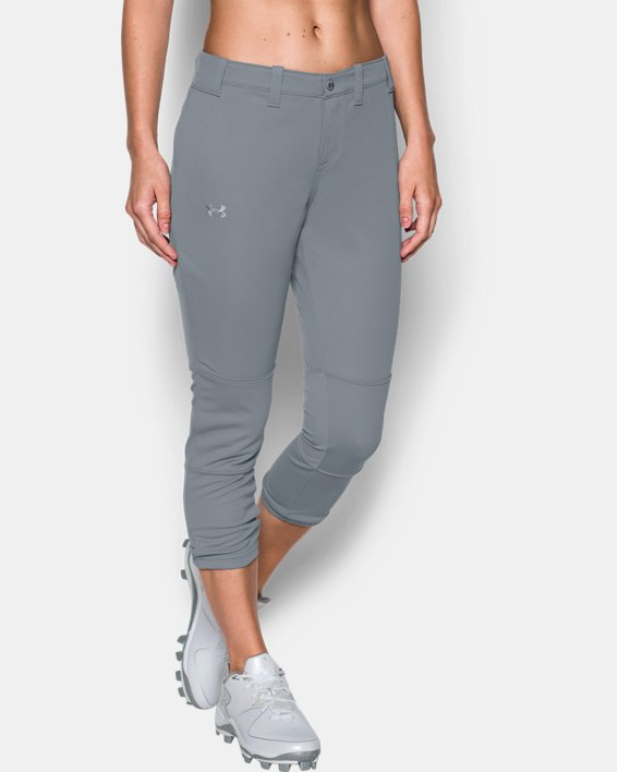 Women's UA Force Out Crop Pants, Gray, pdpMainDesktop image number 0