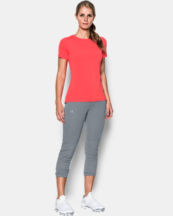 Women's UA Force Out Crop Pants, Gray, pdpMainDesktop image number 2