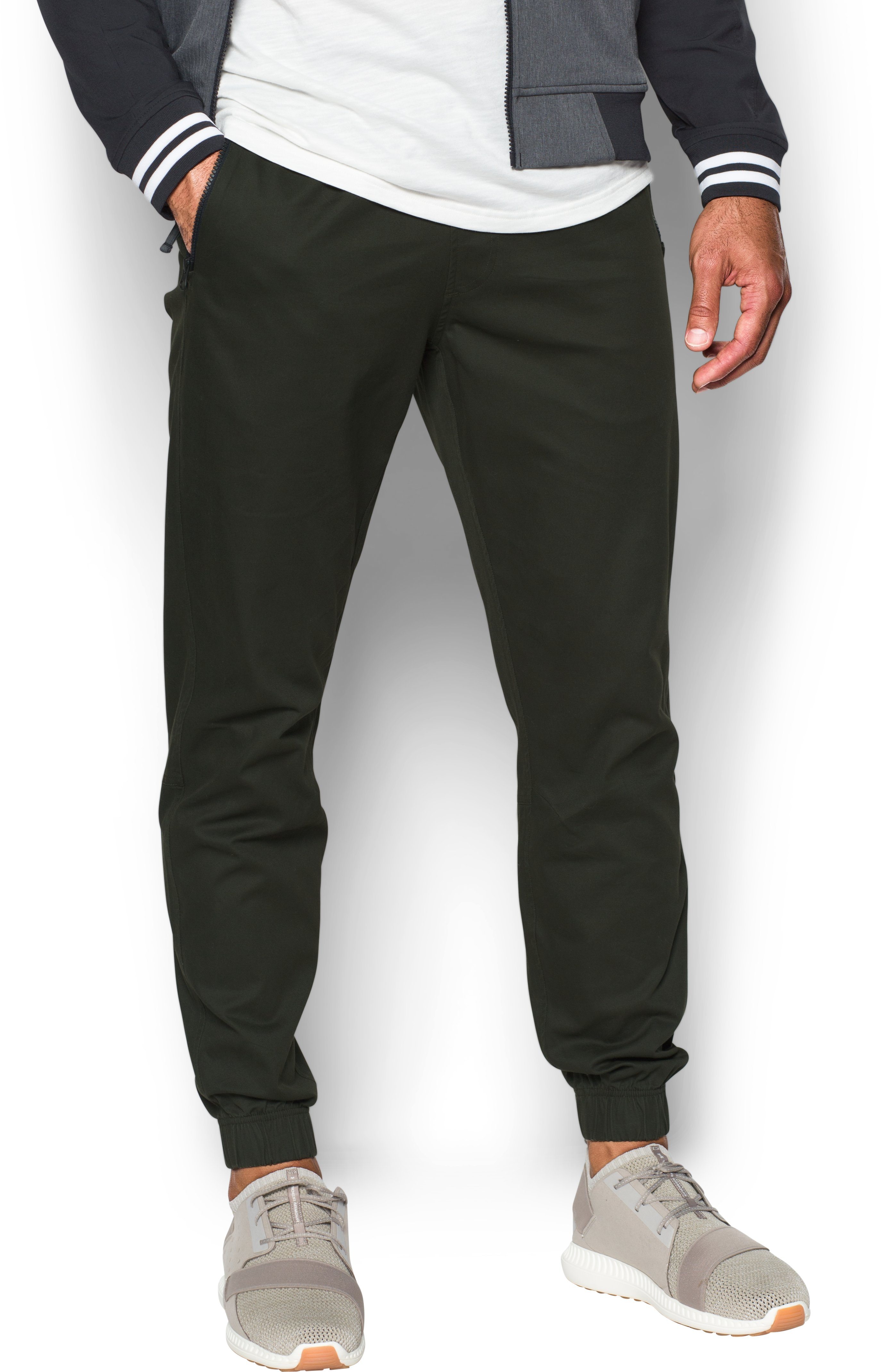 Men's UA Performance Chino Joggers, Artillery Green