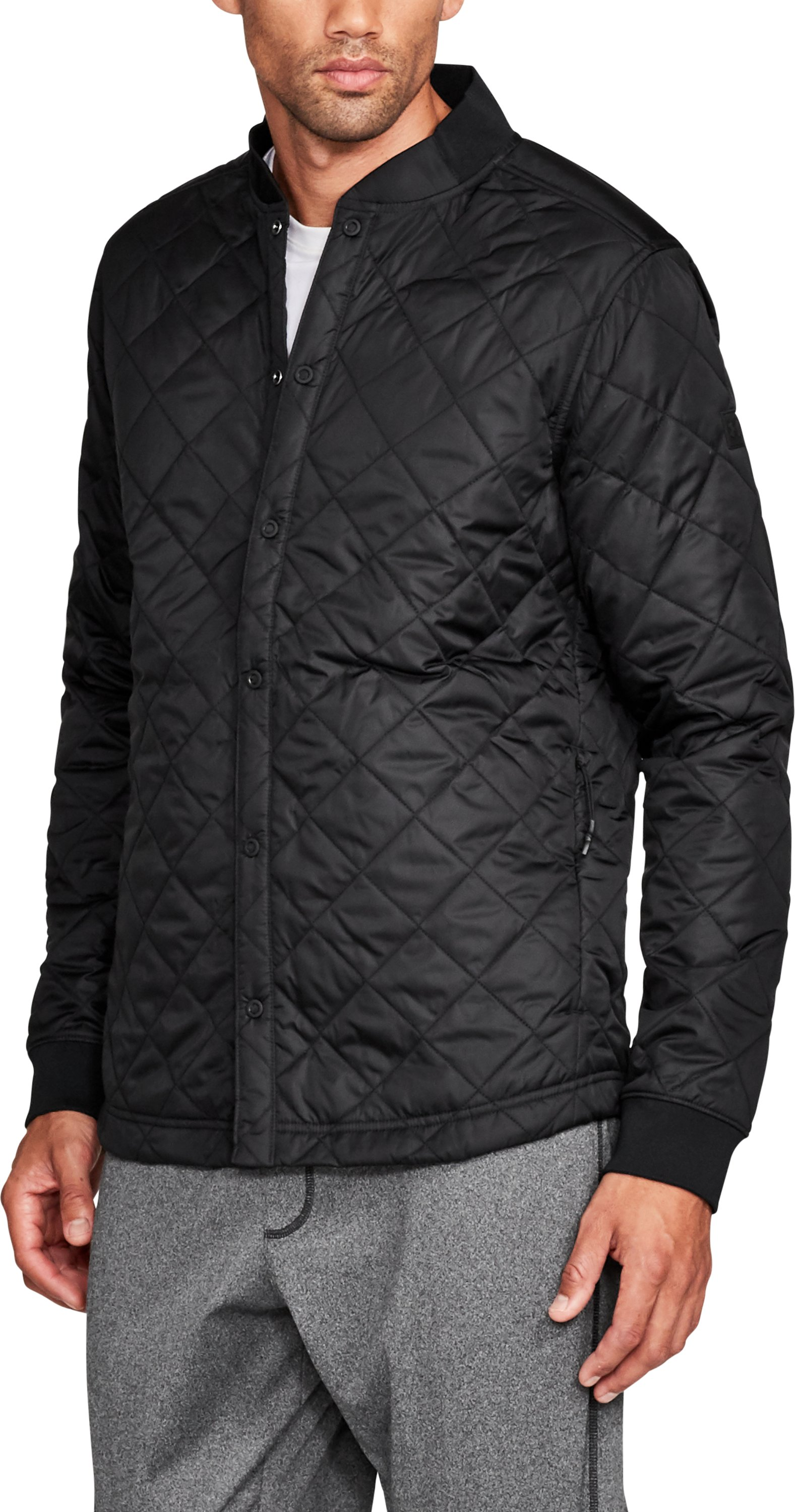 Men's UA Sportstyle Shirt Jacket, Black , undefined