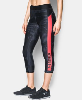 Women's HeatGear® Armour Printed Graphic Capris  1 Color $44.99