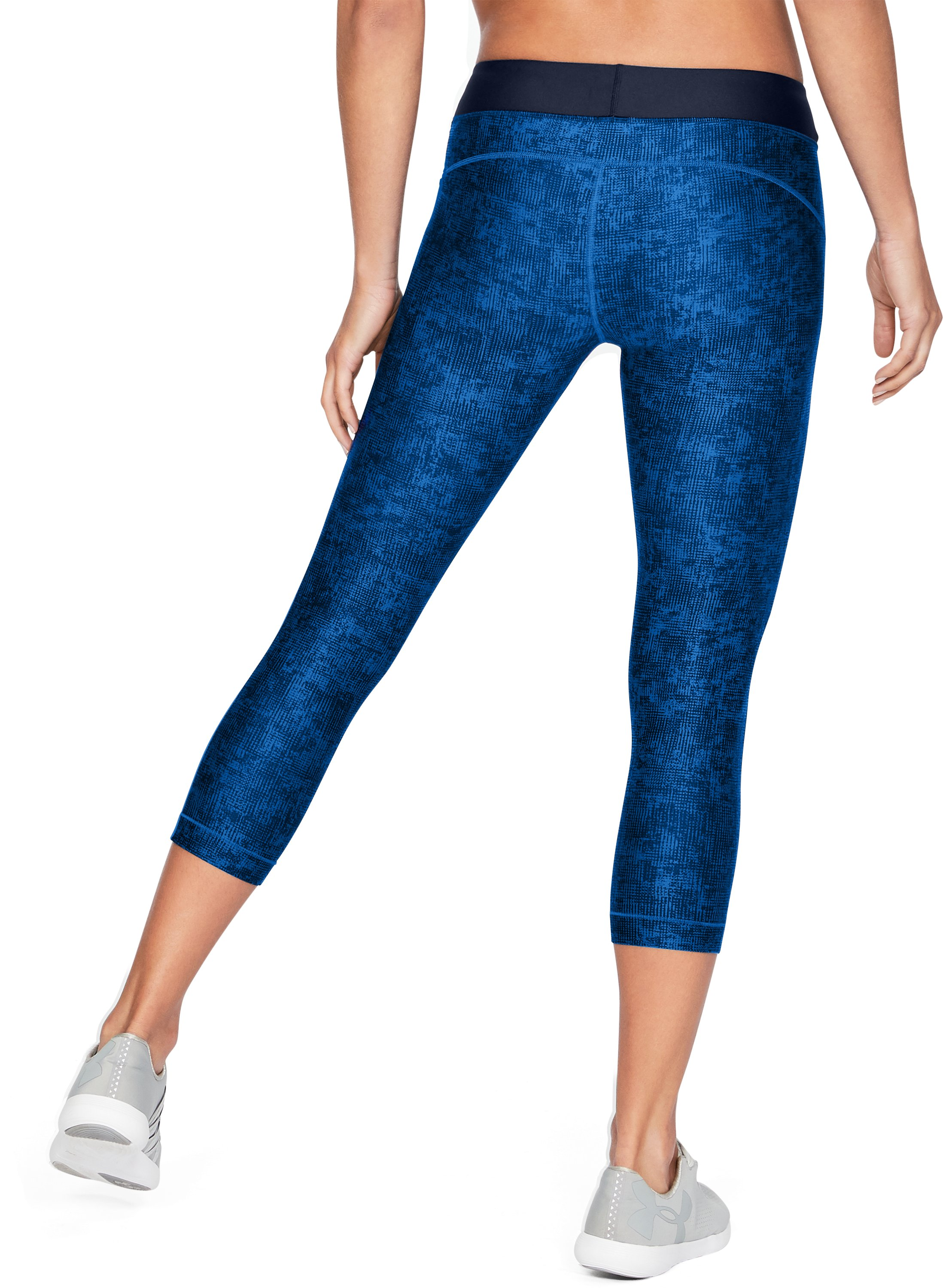 Women's HeatGear® Armour Printed Graphic Capris, LAPIS BLUE,