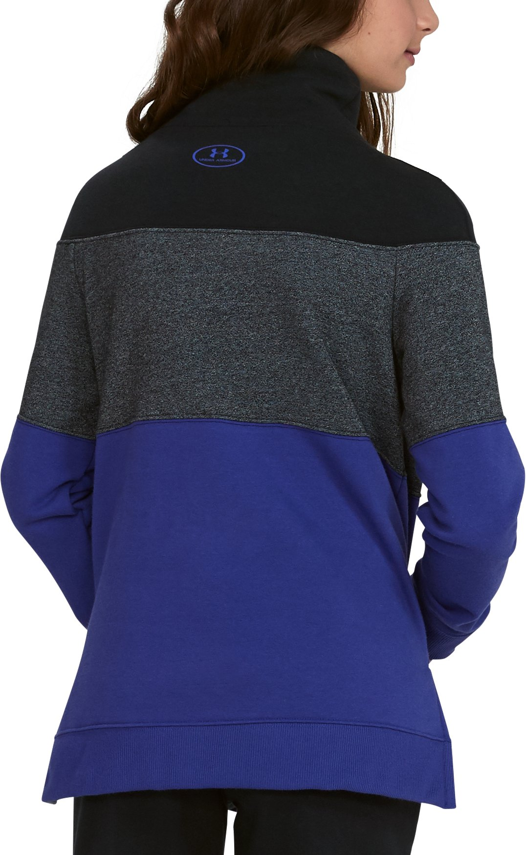 Girls' UA Threadborne™ Fleece Slouchy Crew, CONSTELLATION PURPLE,