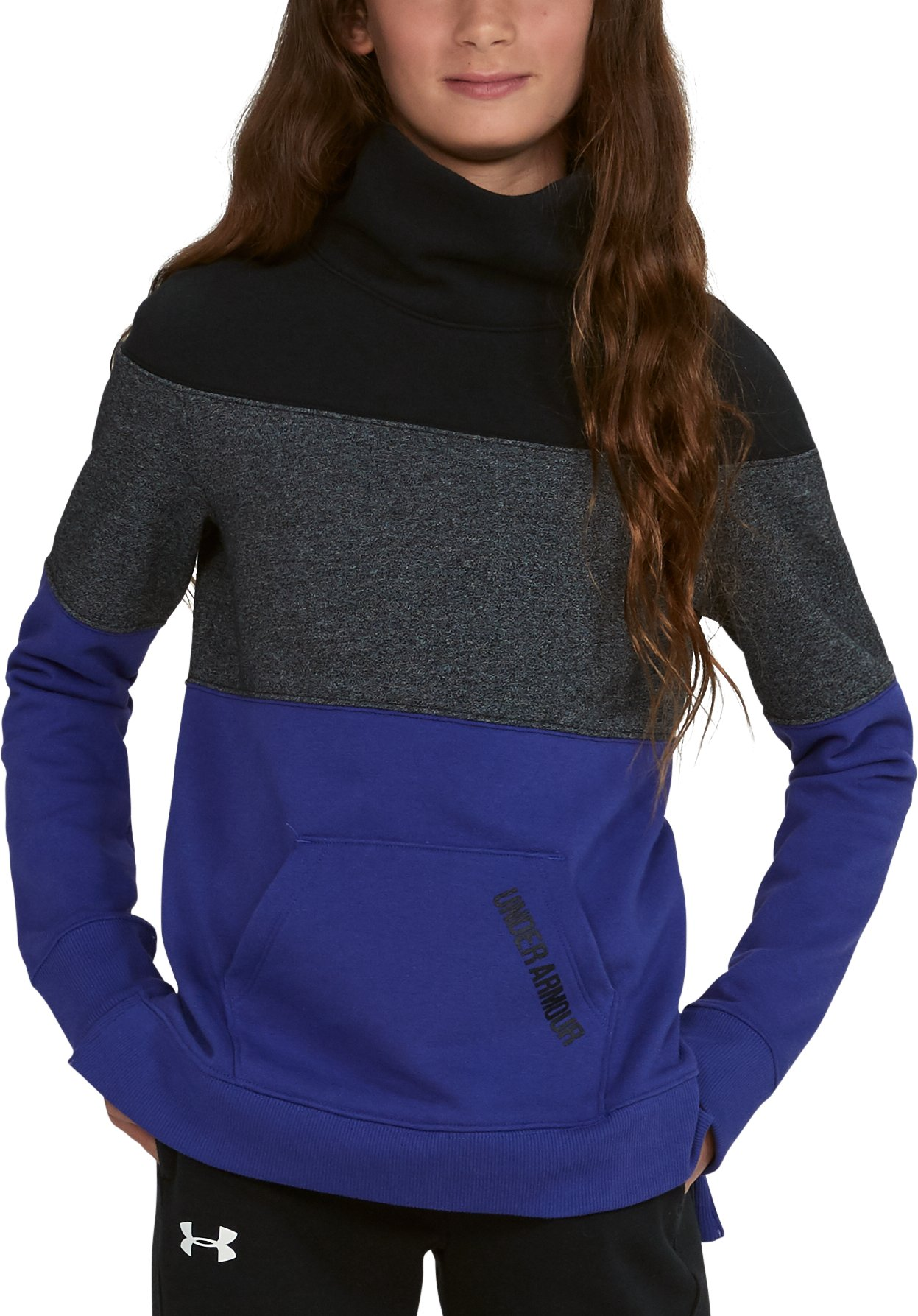 Girls' UA Threadborne™ Fleece Slouchy Crew, CONSTELLATION PURPLE