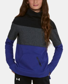 Girls' UA Threadborne™ Fleece Slouchy Crew  2 Colors $32.99