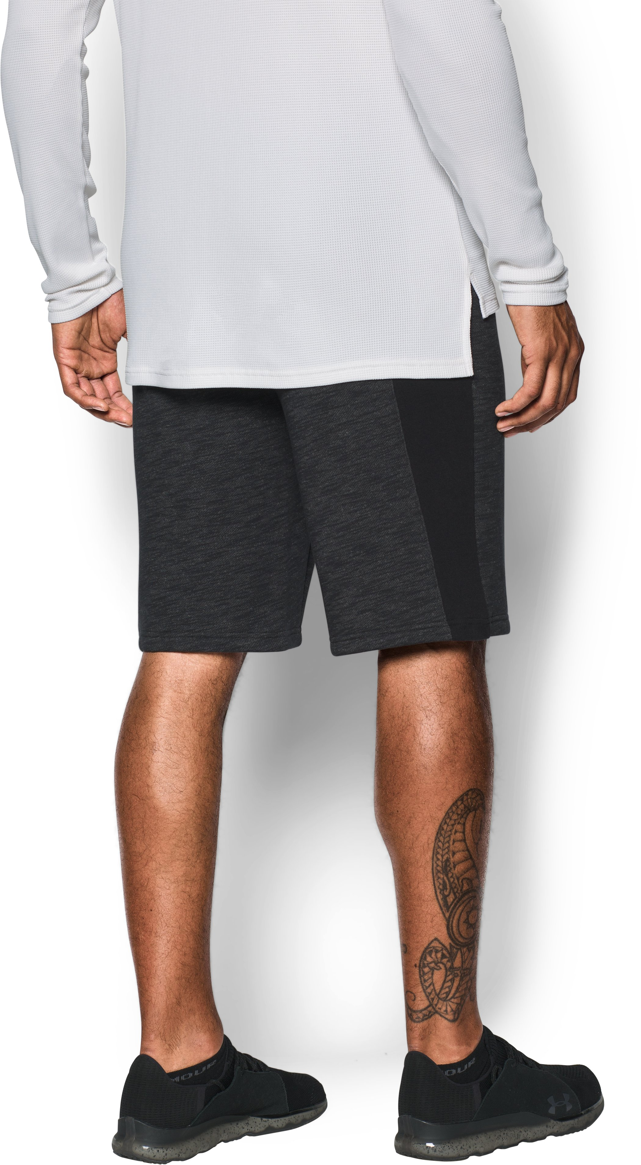 UA Baseline Fleece Shorts, Black , undefined