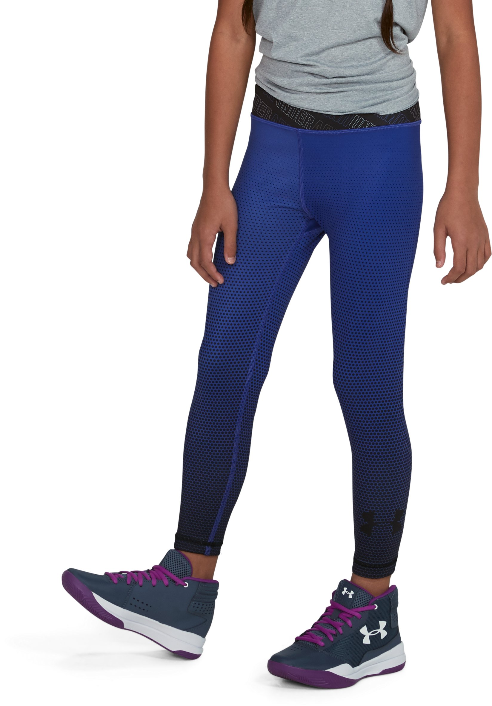 Girls' UA Reversible Crop Leggings, CONSTELLATION PURPLE
