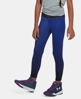 Girls' UA Reversible Crop Leggings  1  Color Available $32.99
