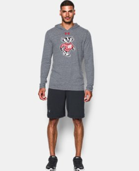 Men's Wisconsin UA Tri-Blend Hoodie LIMITED TIME: FREE U.S. SHIPPING 1 Color $44.99