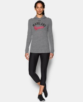 New Arrival Women's Maryland UA Charged Cotton® Tri-Blend Hoodie  1 Color $44.99