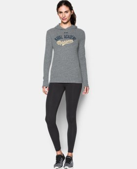New Arrival Women's Navy UA Charged Cotton® Tri-Blend Hoodie  1 Color $44.99